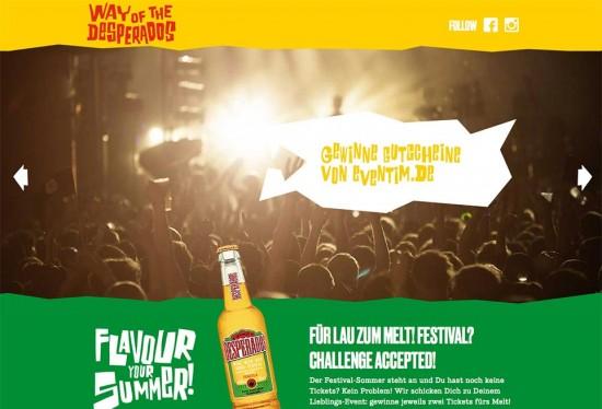 Desperados Flavour Your Sommer Kampagne